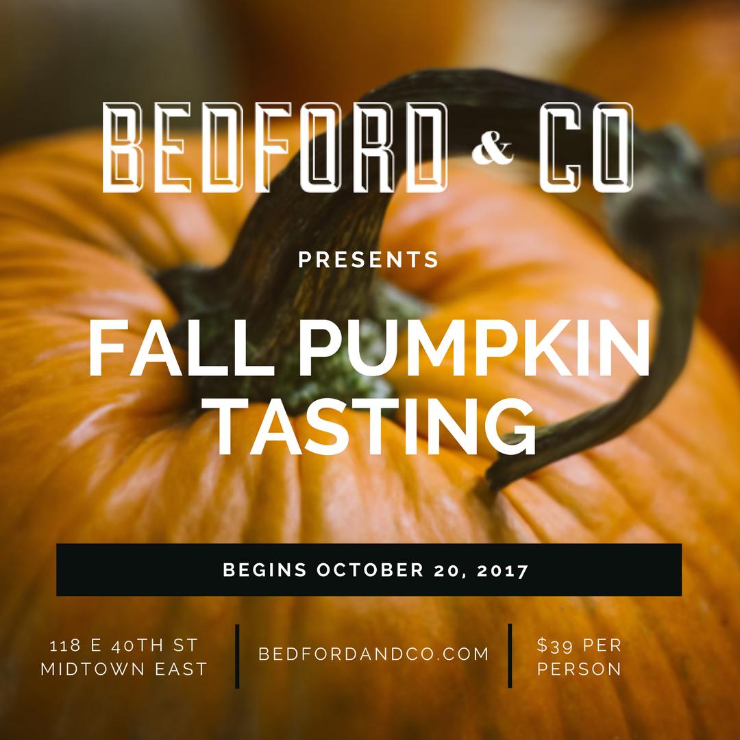 Bedford & Co Fall Pumpkin Tasting